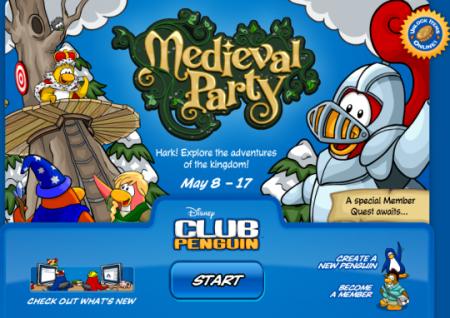 medidval-party-log-in-screen